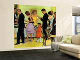 """""""Hitting the Buffet,"""" November 11, 1961 Wall Mural – Large by George Hughes"""