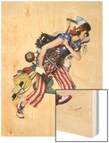 """Rosie to the Rescue"", September 4,1943 Wood Print by Norman Rockwell"