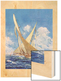 """""""America's Cup Race,""""September 20, 1930 Wood Print by Anton Otto Fischer"""