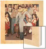 """Christmas Homecoming"", December 25,1948 Wood Print by Norman Rockwell"