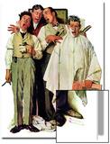 """Barbershop Quartet"", September 26,1936 Kunstdruck von Norman Rockwell"