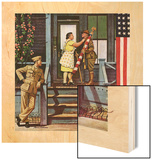"""""""Two Generations of Vets,"""" July 5, 1947 Wood Print by Stevan Dohanos"""