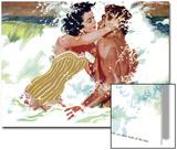 """The Girl Next Door  - Saturday Evening Post """"Leading Ladies"""", October 6, 1956 pg.30 Affiche par Robert Meyers"""