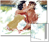 "The Girl Next Door  - Saturday Evening Post ""Leading Ladies"", October 6, 1956 pg.30 Poster av Robert Meyers"