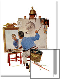 """Triple Self-Portrait"", February 13,1960 Art by Norman Rockwell"