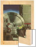 """How to Operate a Power Plant,"" October 2, 1943 Wood Print by Russell Patterson"