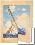 """""""Sailboat Regatta,""""September 8, 1934 Wood Print by Anton Otto Fischer"""