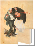 """Halloween"", October 23,1920 Wood Print by Norman Rockwell"