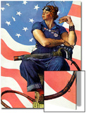 """""""Rosie the Riveter"""", May 29,1943 Poster von Norman Rockwell"""
