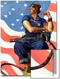 """Rosie the Riveter"", May 29,1943 Kunst von Norman Rockwell"