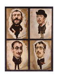 Four Caricatures, 1882-83 Giclee Print by Julius Mandes Price