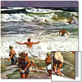 """Surf Swimming,"" August 14, 1948 Posters by John Falter"