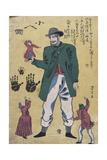 A Giant with Midgets Giclee Print by Utagawa Yoshitora