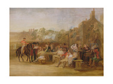 Study for 'Chelsea Pensioners Reading the Waterloo Dispatch', 1822 Giclee Print by Sir David Wilkie