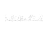 New Yorker Cartoon Lámina giclée premium por Steinberg, Saul
