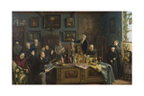 The Auction Giclee Print by Carl Johann Spielter