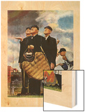"""Bottom of the Sixth""  (Three Umpires), April 23,1949 Wood Print by Norman Rockwell"