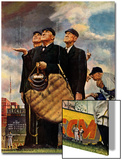"""Bottom of the Sixth""  (Three Umpires), April 23,1949 Prints by Norman Rockwell"