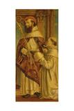 St. Bernard Giclée-tryk af Bernadino Zenale