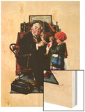 """Doctor and the Doll"", March 9,1929 Wood Print by Norman Rockwell"