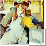 """Soda Jerk"", August 22,1953 Prints by Norman Rockwell"