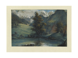 View of the Lake of Challes and Mont Blanc, 1807-1808 Giclee Print by Elisabeth Louise Vigee-LeBrun