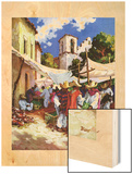"""Mexican Village Market,""June 1, 1938 Wood Print by G. Kay"