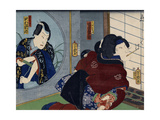 A Scene from the Play 'Kuzunoha', 1865 Giclee Print by Utagawa Yoshiiku