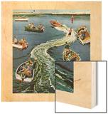 """Making a Wake"", July 26, 1958 Wood Print by Ben Kimberly Prins"