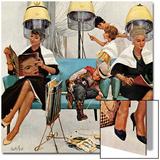 """Cowboy Asleep in Beauty Salon,"" May 6, 1961 Poster by Kurt Ard"