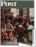 """Homecoming Marine"" Saturday Evening Post Cover, October 13,1945 Prints by Norman Rockwell"