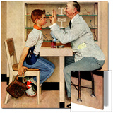 """At the Optometrist"" or ""Eye Doctor"", May 19,1956 Posters by Norman Rockwell"