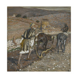 The Man at the Plough from 'The Life of Our Lord Jesus Christ' Giclee Print by James Jacques Joseph Tissot