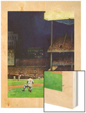 """Yankee Stadium,"" April 19, 1947 Wood Print by John Falter"