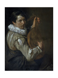 The Lute Player Giclée-Druck von Arie de Vois