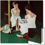 """Girl at the Mirror"", March 6,1954 Art by Norman Rockwell"