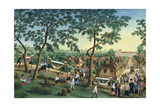 Manila and it's Environs: Outing to the Antipolo Fiesta Giclee Print by Jose Honorato Lozano