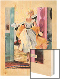 """The Lady's Future - Saturday Evening Post """"Leading Ladies"""", February 6, 1954 pg.34 Wood Print by Ernest Chiriaka"""