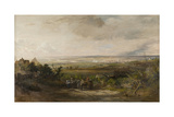 Newcastle from Gateshead Fell, C.1816 Giclee Print by Thomas Miles Richardson