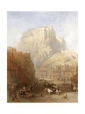 Edinburgh Castle from the Grassmarket, 1837 Giclee Print by David Roberts