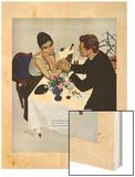 "Pretend You Love Me - Saturday Evening Post ""Leading Ladies"", February 22, 1958 pg.40 Wood Print by Kurt Ard"