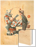 """Circus"" or ""Meeting the Clown"", May 18,1918 Wood Print by Norman Rockwell"