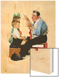 """Magician"" or ""Card Tricks"", March 22,1930 Wood Print by Norman Rockwell"