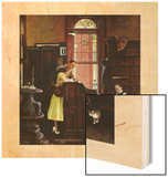 """""""Marriage License"""", June 11,1955 Wood Print by Norman Rockwell"""