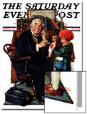 """Doctor and the Doll"" Saturday Evening Post Cover, March 9,1929 Art by Norman Rockwell"