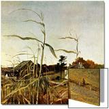 """""""Autumn Cornfield,""""October 1, 1950 Plakater av Andrew Wyeth"""
