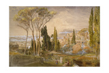 View from the Villa D'Este at Tivoli, 1839 Giclee Print by Samuel Palmer