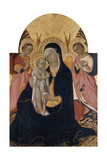 Madonna and Child with Two Angels, C.1440 Giclee Print by  Sano di Pietro