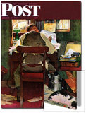 """It's Income Tax Time Again!"" Saturday Evening Post Cover, March 17,1945 Art by Norman Rockwell"