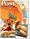"""Card Game at the Beach,"" Saturday Evening Post Cover, August 28, 1943 Posters by Alex Ross"